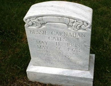 CARNAHAN CATES, BESSIE - Cannon County, Tennessee | BESSIE CARNAHAN CATES - Tennessee Gravestone Photos