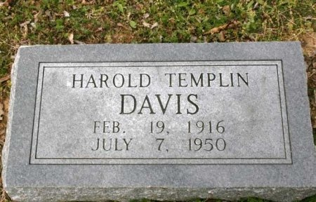 DAVIS, HAROLD TEMPLIN - Cannon County, Tennessee | HAROLD TEMPLIN DAVIS - Tennessee Gravestone Photos