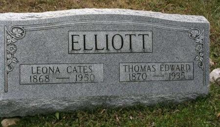CATES ELLIOTT, LEONA - Cannon County, Tennessee | LEONA CATES ELLIOTT - Tennessee Gravestone Photos