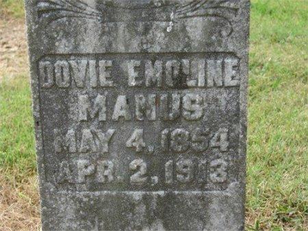 MANUS, DOVIE EMOLINE - Cannon County, Tennessee | DOVIE EMOLINE MANUS - Tennessee Gravestone Photos