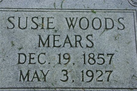 WOODS MEARS, SUSIE - Cannon County, Tennessee   SUSIE WOODS MEARS - Tennessee Gravestone Photos