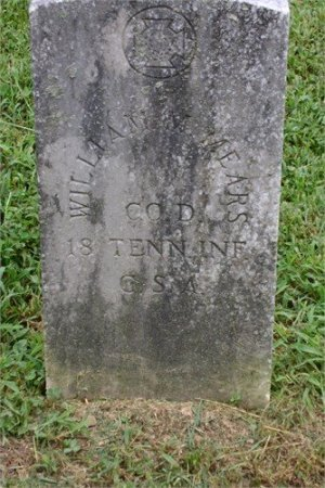 MEARS (VETERAN CSA), WILLIAM MARK - Cannon County, Tennessee | WILLIAM MARK MEARS (VETERAN CSA) - Tennessee Gravestone Photos