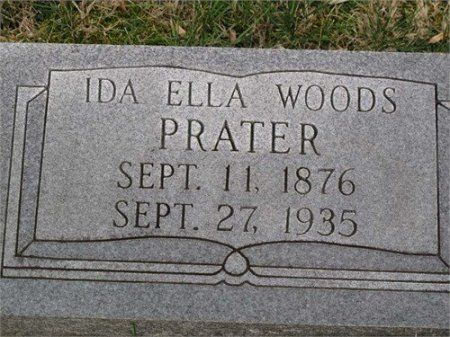 WOODS PRATER, IDA ELLA - Cannon County, Tennessee   IDA ELLA WOODS PRATER - Tennessee Gravestone Photos