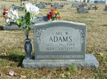ADAMS, CARL W. - Carroll County, Tennessee | CARL W. ADAMS - Tennessee Gravestone Photos