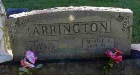 ARRINGTON, JOHN MELVIN - Carroll County, Tennessee | JOHN MELVIN ARRINGTON - Tennessee Gravestone Photos