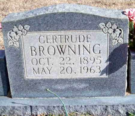 BROWNING, GERTRUDE - Carroll County, Tennessee   GERTRUDE BROWNING - Tennessee Gravestone Photos