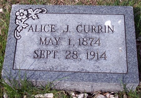CURRIN, ALICE - Carroll County, Tennessee | ALICE CURRIN - Tennessee Gravestone Photos