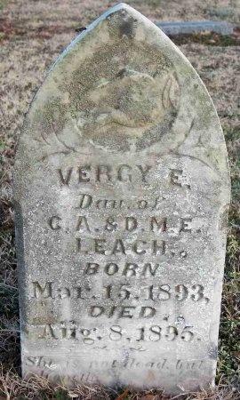 LEACH, VERCY E. - Carroll County, Tennessee | VERCY E. LEACH - Tennessee Gravestone Photos