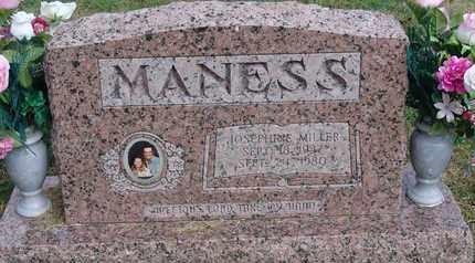 MILLER MANESS, JOSEPHINE - Carroll County, Tennessee | JOSEPHINE MILLER MANESS - Tennessee Gravestone Photos