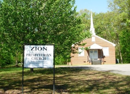 *ZION PRESBYTERIAN CHURCH,  - Carroll County, Tennessee |  *ZION PRESBYTERIAN CHURCH - Tennessee Gravestone Photos
