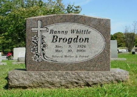 WHITTLE BROGDON, RANNY - Carroll County, Tennessee | RANNY WHITTLE BROGDON - Tennessee Gravestone Photos