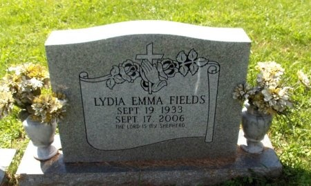 FIELDS, LYDIA EMMA - Carter County, Tennessee | LYDIA EMMA FIELDS - Tennessee Gravestone Photos