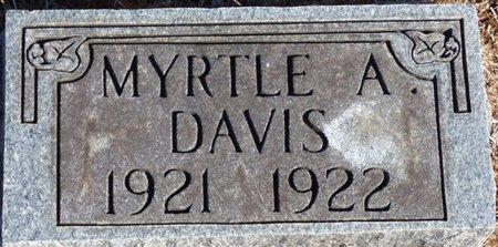 DAVIS, MYRTLE A - Chester County, Tennessee | MYRTLE A DAVIS - Tennessee Gravestone Photos