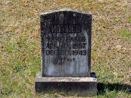 HURST BAKER, MARY ELIZABETH - Claiborne County, Tennessee | MARY ELIZABETH HURST BAKER - Tennessee Gravestone Photos
