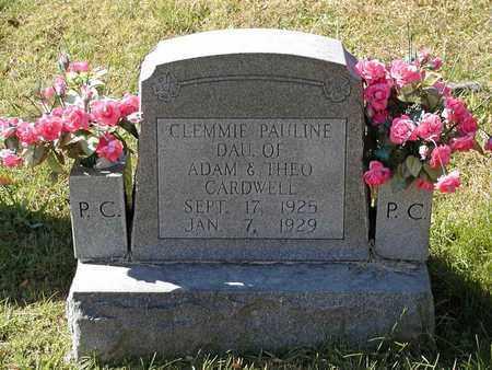 CARDWELL, CLEMMIE PAULINE - Claiborne County, Tennessee   CLEMMIE PAULINE CARDWELL - Tennessee Gravestone Photos