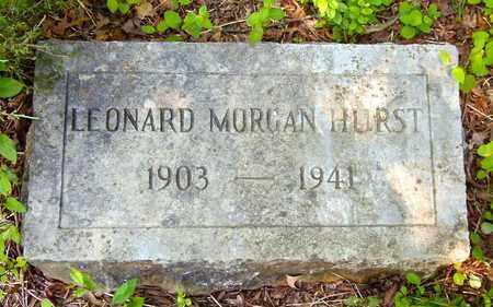 HURST, LEONARD MORGAN - Cocke County, Tennessee   LEONARD MORGAN HURST - Tennessee Gravestone Photos