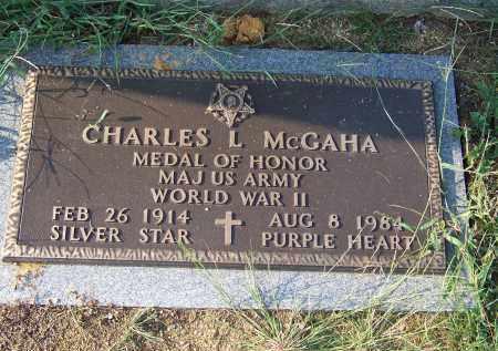 MCGAHA  (VETERAN WWII), CHARLES L. - Cocke County, Tennessee | CHARLES L. MCGAHA  (VETERAN WWII) - Tennessee Gravestone Photos