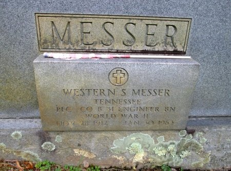 MESSER (VETERAN WWII), WESTERN S - Cocke County, Tennessee | WESTERN S MESSER (VETERAN WWII) - Tennessee Gravestone Photos