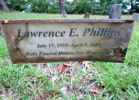 PHILLIPS, LAWRENCE E. - Cocke County, Tennessee | LAWRENCE E. PHILLIPS - Tennessee Gravestone Photos