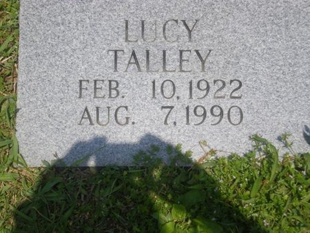 TALLEY, LUCY - Cocke County, Tennessee | LUCY TALLEY - Tennessee Gravestone Photos