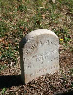 ANDERSON, MARY L. - Coffee County, Tennessee | MARY L. ANDERSON - Tennessee Gravestone Photos