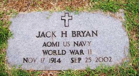 BRYAN  (VETERAN WWII), JACK H - Coffee County, Tennessee   JACK H BRYAN  (VETERAN WWII) - Tennessee Gravestone Photos