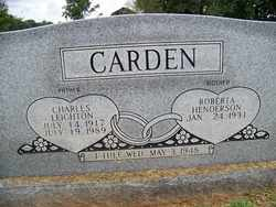 CARDEN, CHARLES LEIGHTON - Coffee County, Tennessee | CHARLES LEIGHTON CARDEN - Tennessee Gravestone Photos