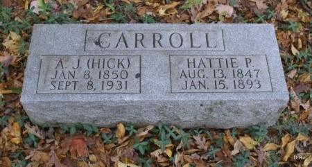 CARROLL, HATTIE P. - Coffee County, Tennessee | HATTIE P. CARROLL - Tennessee Gravestone Photos