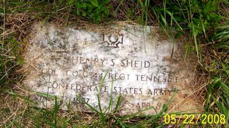 SHEID  (VETERAN CSA), HENRY S - Coffee County, Tennessee | HENRY S SHEID  (VETERAN CSA) - Tennessee Gravestone Photos