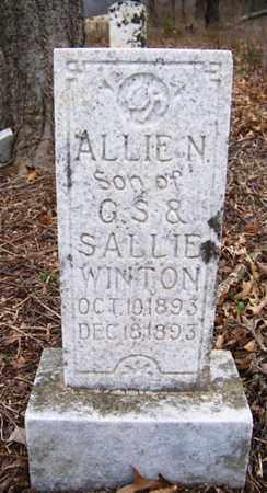 WINTON, ALLIE N. - Coffee County, Tennessee | ALLIE N. WINTON - Tennessee Gravestone Photos