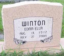 WINTON, EDNA ELLA - Coffee County, Tennessee   EDNA ELLA WINTON - Tennessee Gravestone Photos