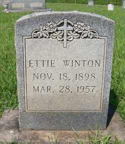 WINTON, ETTIE - Coffee County, Tennessee | ETTIE WINTON - Tennessee Gravestone Photos