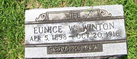 WINTON, EUNICE W. - Coffee County, Tennessee | EUNICE W. WINTON - Tennessee Gravestone Photos
