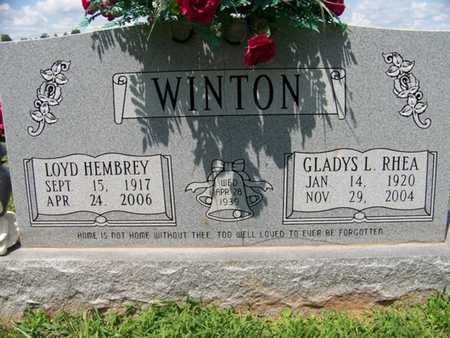 WINTON, GLADYS LOUISE - Coffee County, Tennessee | GLADYS LOUISE WINTON - Tennessee Gravestone Photos