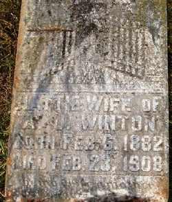 WINTON, HATTIE - Coffee County, Tennessee | HATTIE WINTON - Tennessee Gravestone Photos