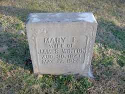 WINTON, MARY E. - Coffee County, Tennessee | MARY E. WINTON - Tennessee Gravestone Photos
