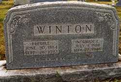 WINTON, HATTIE PREBBLE - Coffee County, Tennessee | HATTIE PREBBLE WINTON - Tennessee Gravestone Photos