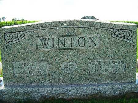 WINTON, MIDGE D. - Coffee County, Tennessee | MIDGE D. WINTON - Tennessee Gravestone Photos