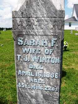 WINTON, SARAH FRANCES - Coffee County, Tennessee   SARAH FRANCES WINTON - Tennessee Gravestone Photos