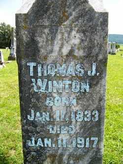 WINTON, THOMAS JEFFERSON - Coffee County, Tennessee | THOMAS JEFFERSON WINTON - Tennessee Gravestone Photos