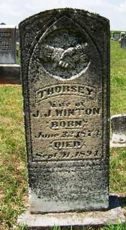 WINTON, THURSEY - Coffee County, Tennessee   THURSEY WINTON - Tennessee Gravestone Photos