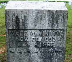 WINTON, WADE W. - Coffee County, Tennessee   WADE W. WINTON - Tennessee Gravestone Photos