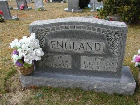 ENGLAND, BEECHER - Cumberland County, Tennessee | BEECHER ENGLAND - Tennessee Gravestone Photos