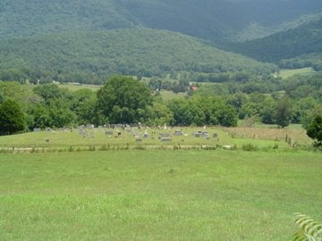 PARHAM CEMETERY VIEW,  - Cumberland County, Tennessee    PARHAM CEMETERY VIEW - Tennessee Gravestone Photos