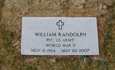 RANDOLPH (VETERAN WWII), WILLIAM    - Cumberland County, Tennessee | WILLIAM    RANDOLPH (VETERAN WWII) - Tennessee Gravestone Photos
