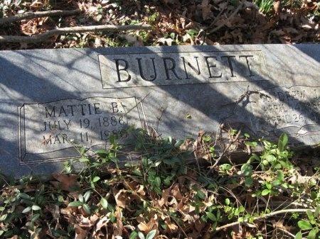 BURNETT, MATTIE BELL - Davidson County, Tennessee | MATTIE BELL BURNETT - Tennessee Gravestone Photos