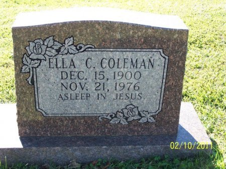 COLEMAN, ELLA C. - Davidson County, Tennessee   ELLA C. COLEMAN - Tennessee Gravestone Photos