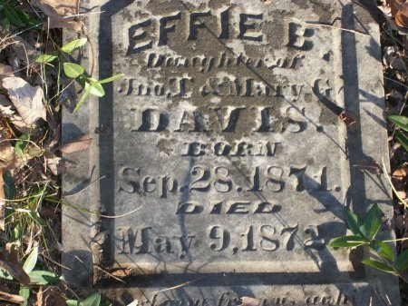 DAVIS, EFFIE B. (CLOSE UP) - Davidson County, Tennessee | EFFIE B. (CLOSE UP) DAVIS - Tennessee Gravestone Photos