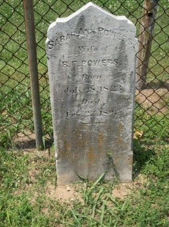 POWERS, SARAH ANN - Davidson County, Tennessee   SARAH ANN POWERS - Tennessee Gravestone Photos