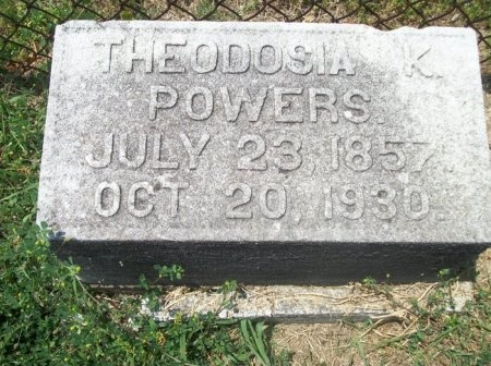POWERS, THEODOSIA K. - Davidson County, Tennessee | THEODOSIA K. POWERS - Tennessee Gravestone Photos